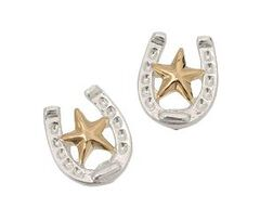 Montana Silversmiths Horseshoe & Star Earrings, , hi-res