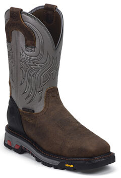 Justin JOW Commander X5 Pull-On Waterproof Work Boots - Steel Toe, , hi-res