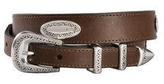 Nocona Basic Leather Concho Belt, , hi-res