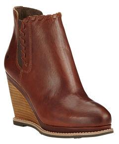 Ariat Women's Cedar Brown Belle Wedge Boots - Round Toe , , hi-res