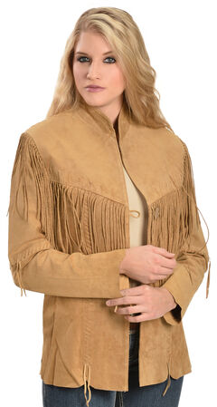 Scully Fringe Suede Leather Jacket, , hi-res