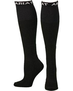 Ariat Men's Over the Calf Black Boot Socks, , hi-res