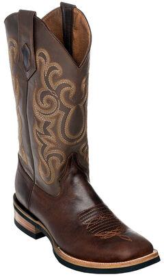 Ferrini Men's Chocolate Maverick Cowboy Boots - Square Toe, , hi-res