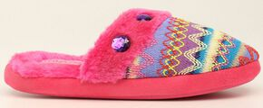 Blazin Roxx Colorful Woven Scuff Slippers, Pink, hi-res