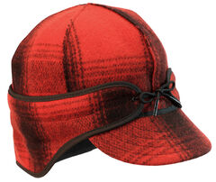 Stormy Kromer Men's Red & Black Plaid The Rancher Cap, , hi-res