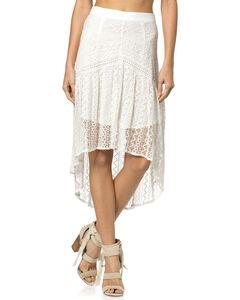 Miss Me Hi-Lo Lace Skirt, , hi-res
