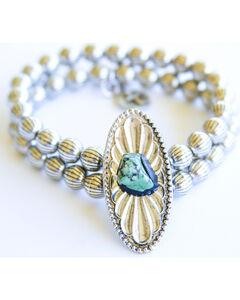 West & Co. Women's Turquoise Blossom Stretch Bracelet, , hi-res