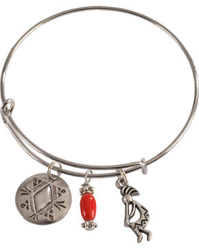 Julie Rose Red Add-A-Charm Bracelet, Red, hi-res