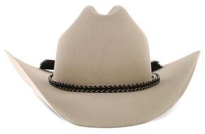 Cody James Men's Braided Horse Hair Black Hat Band , Black, hi-res