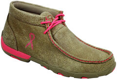 Twisted X Women's Tough Enough to Wear Pink Driving Mocs, , hi-res