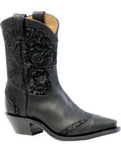 Boulet Art Barocco Calf Split Short Cowgirl Boots - Snip Toe, , hi-res
