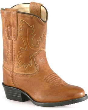 Old West Toddler Boys' Tan Cowboy Boots, Tan, hi-res