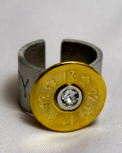SouthLife Supply Women's Rosa Shotshell Ring in Traditional Gold with Crystal, , hi-res