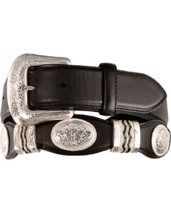 Tony Lama Scalloped Leather Belt, , hi-res
