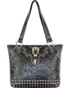 Savana Black Tooled Conceal Carry Buckle Purse , , hi-res
