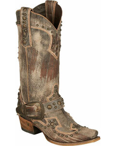 Lane Your Harness Studded Cowgirl Boots - Snip Toe, , hi-res