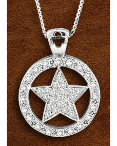 Kelly Herd Sterling Silver Large Western Star Necklace, , hi-res