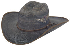 Justin Men's Bent Rail Blue Fenix Straw Hat, , hi-res