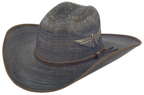 Justin Men's Bent Rail Blue Fenix Straw Hat, Blue, hi-res