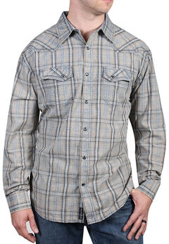Moonshine Spirit Men's Trigger Plaid Long Sleeve Shirt, , hi-res