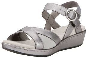 Ariat Women's Silver Out & About Strap Sandals , Silver, hi-res