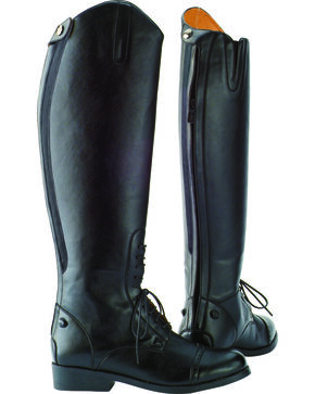 Saxon Women's Equileather Field Boots, Black, hi-res
