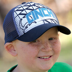Cinch Boy's Navy Blue Logo Sublimation Graphic Cap, , hi-res