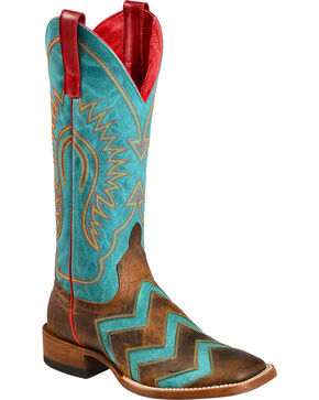 Anderson Bean Boots Macie Bean Wave on Wave Cowgirl Boots - Square Toe, Toast, hi-res