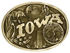 Montana Silversmiths Iowa State Heritage Attitude Belt Buckle, , hi-res