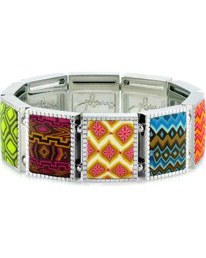 Jilzarah Santa Fe Square Stretch Bracelet, Multi, hi-res