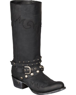 Lane Women's Paradise Harness Boots - Round Toe, Black, hi-res