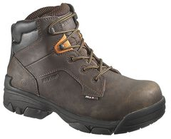 "Wolverine Merlin Waterproof 6"" Lace-Up Work Boots - Composition Toe, , hi-res"