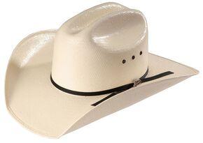 Justin Ranch Hand Straw Western Hat, Natural, hi-res