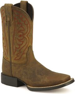 Ariat Youth Quickdraw Cowboy Boots - Square Toe, , hi-res
