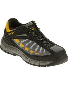 Caterpillar Men's Infrastructure Grey Work Shoes - Steel Toe , , hi-res