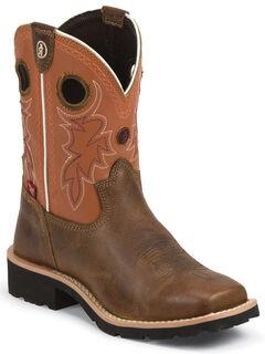 Tony Lama Boys' 3R Western Boots - Square Toe, Tan, hi-res