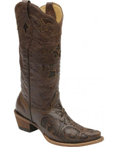 Corral Women's Vintage Lizard Inlay Cowgirl Boots - Snip Toe, , hi-res