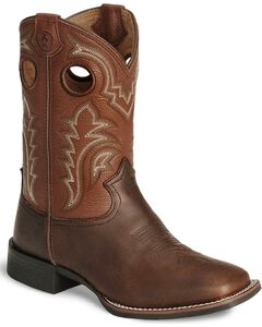 Tony Lama Boys' Tiny Lama 3R Tan Cowboy Boots - Square Toe, , hi-res