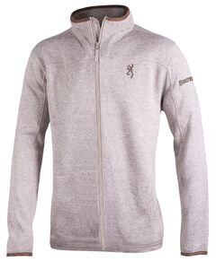 Browning Men's Oatmeal Full-Zip Laredo Fleece Sweater, , hi-res