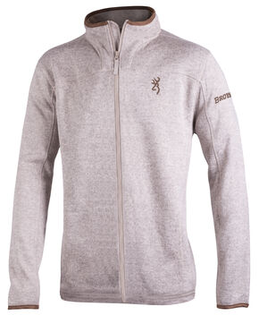 Browning Men's Oatmeal Full-Zip Laredo Fleece Sweater, Natural, hi-res