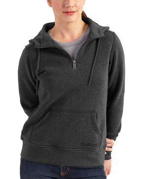 Carhartt Women's Clarksburg Quarter-Zip Sweatshirt, Black, hi-res