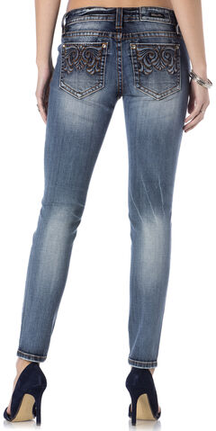 Miss Me Women's Damsel Denim Skinny Jeans, , hi-res