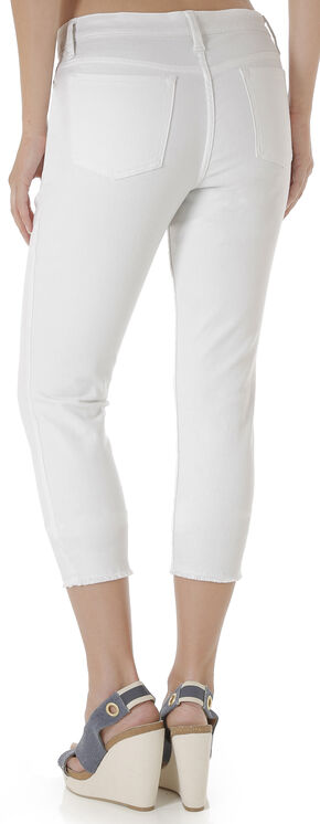 Wrangler Retro® Women's White Crop Jeans - Mid Rise, White, hi-res