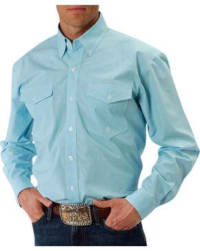 Roper Men's Aquamarine Western Shirt, Turquoise, hi-res