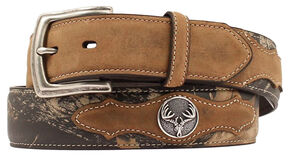 Nocona Mossy Oak Deer Skull Concho Belt, Assorted, hi-res