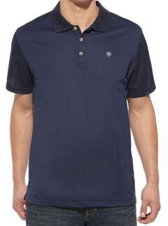 Ariat Navy Tek Polo Shirt, , hi-res