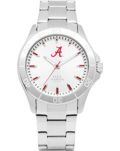 Jack Mason University of Alabama Men's Silver Dial Sport Bracelet Watch, , hi-res