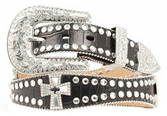 Blazin Roxx Scalloped Studded & Cross Belt, , hi-res