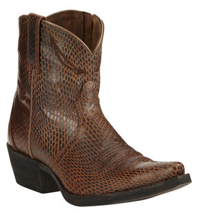 Ariat Sassy Brown Marilyn Short Cowgirl Boots - Snip Toe , Brown, hi-res