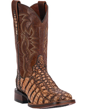 Dan Post Everglades Caiman Cowgirl Boots - Square Toe, Camel, hi-res